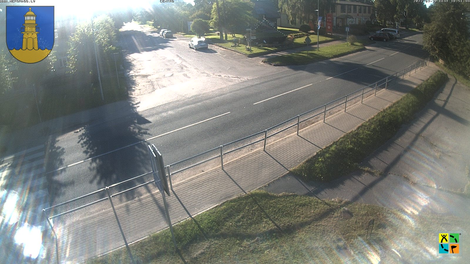 Webcam in Mersrags - City center
