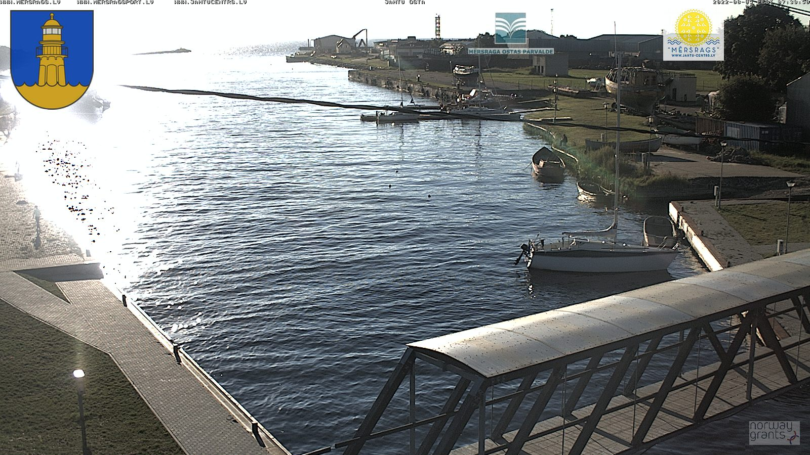 Webcam in port of Mersrags